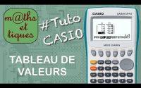 FONCTIONS : Afficher un tableau de valeurs - Tutoriel CASIO