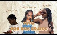 How to Bob box braids// Tutoriel facile rapide et pas cher