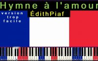 Hymne a l'amour Edith Piaf Chanson francaise PIANO TUTORIEL tres facile