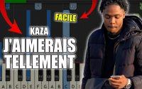 Kaza - J'aimerais tellement | Vidéo Piano Tutoriel Facile Instrumental RAP (Piano Facile France)