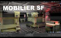 Mobilier SF blender2 90 Français Tutoriel Svm6 Volet n°2 (début de la modélisation)
