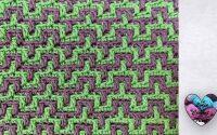"""Mosaic Crochet Tutoriel facile """"Lidia Crochet Tricot"""" Plaid, Écharpe..."""