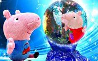 Peppa Pig à la leçon de magie. Vidéo pour enfants sur la vie de Peppa et George.