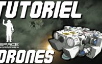 Space Engineer Tutoriel Drone, Comment construire un Drone ? Xbox One Gameplay FR