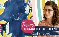 Tutoriel aquarelle - Carte Noël [FACILE] - Tableau 5/8