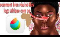 Tutoriel comment bien réalisé des logo Afrique sur medibang paint 🎨✍️