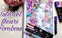 Tutoriel feutres Tombow dual brush. coloriage pour adulte