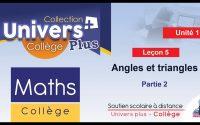 Univers Plus Maths 1AC - Leçon 5 : Angles et triangles - Partie 2