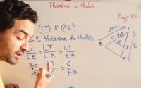 Univers Plus Maths 3AC - leçon 5 : théorème de thalès   exercices page 75 1