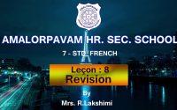 7 STD - French - Revision : Leçon:8