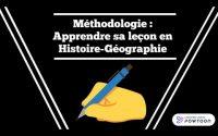 Apprendre correctement sa leçon en Histoire-Géographie