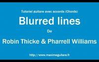 Blurred lines (Robin Thicke & Pharrell) - Tutoriel guitare avec partition en description (Chords)