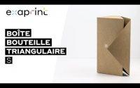 Boîte à bouteille triangulaire - Tutoriel de montage