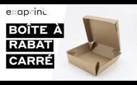 Boîte à rabat carrée - Tutoriel de montage