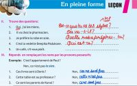 Class 10 Entre Jeunes - Leçon 7 En Pleine Forme - PART 2