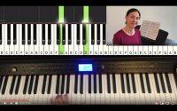 Comptine d'un autre été (Amélie) - comment jouer au piano. Piano tutoriel pour débutants, Synthesia.
