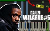 DA Uzi - WeLaRue #6 | Vidéo Piano Tutoriel Facile Instrumental RAP (Piano Facile France)