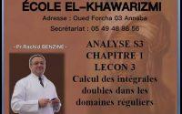 ECOLE ALKHAWARIZMI  ANALYSE S3 CHAPITRE 1  LEÇON 2 ET 3