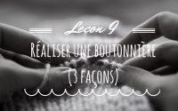Leçon 9 : Tricoter une boutonnière en 3 façons