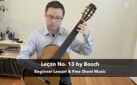 Leçon No. 13 by Bosch - Lesson & Free PDF Sheet Music and Tab for Classical Guitar