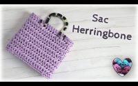 "Sac Herringbone - tutoriel crochet by ""Lidia Crochet Tricot"""