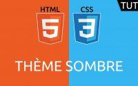 Tutoriel HTML/CSS - thème sombre