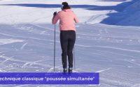 Tutoriel ski de fond sur le domaine nordique des Saisies avec Laura Chamiot Maitral
