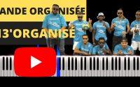 13'Organisé - Bande organisée (Instrumental/Lyrics Piano Tutoriel Facile)