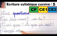 Cours leçon de français : bien écrire les mots en cp ce1et ce2 #5