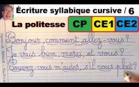 Cours leçon de français : bien écrire les mots en cp ce1et ce2 #6