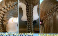 3 Peinados fáciles. Tutorial de Trenzas. 3 Coiffures faciles. Tutoriel de tresses. 3 Basic Braids.
