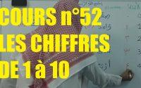 Apprendre à lire l'arabe - les chiffres de 0 à 10 (cours 52)