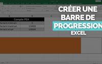Créer une 📊 Barre de Progression Excel 📊  [TUTORIEL] Barre de Données / Jauge en 2 min