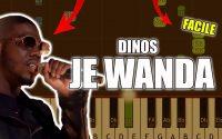 Dinos - Je wanda | Vidéo Piano Tutoriel Facile Instrumental RAP (Piano Facile France)