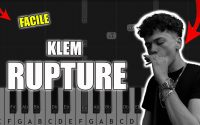 Klem - Rupture | Vidéo Piano Tutoriel Facile Instrumental RAP (Piano Facile France)