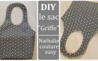 """Le tutoriel de mon sac """"Griffe""""/ nathalie couture easy / sac a poignées"""