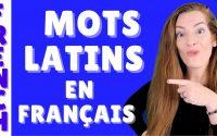 Les mots latins en français - Leçon de français