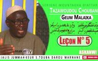 Naka laniou wara Geumé Malaika yi : Cours Tazawoudou Choubane : Leçon N° 3 - Par S. M. Diattara