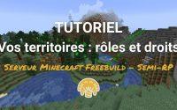 [TUTORIEL r0x.fr] Vos territoires : rôles et droits sur le serveur Minecraft Freebuild Semi-RP (V7)