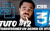 Tutoriel CSS 06 - Transformer un design en site