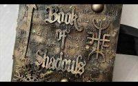 Tutoriel Mini Album Book of Shadows mixed media