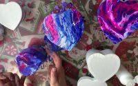 Tutoriel Pouring Coeur fluidart tutorial