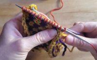 Tutoriel Tricot - Relever les mailles le long d'un steek