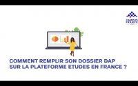 Tutoriel d'utilisation de la plateforme Etudes en France 2021