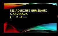 les adjectifs numéraux cardinaux une leçon pour les élèves de la 6ème année.