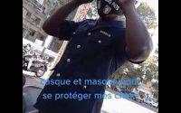 Big Pato fait la leçon à Aladji Mbaye après l'avoir interpellé sur une moto sans casque ni masque..