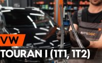 Comment remplacer des essuie-glaces sur VW TOURAN 1 (1T1, 1T2) [TUTORIEL AUTODOC]
