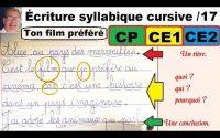 Cours leçon de français : bien écrire les mots en cp ce1ce2 cm1 # 17
