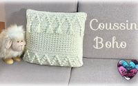 """Coussin """"BOHO"""" Crochet Bohème """"Lidia Crochet Tricot"""" Tutoriel Facile"""