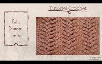 Crochet:Tutoriel Point Colonnes Treillis😍Crochet stitch tutorial lattice columns .Maï Crochet Tricot